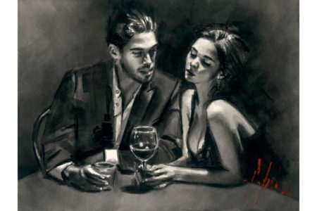 Intimate Moments III - Ink painting