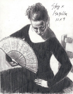 Study for Isabella - Pencil