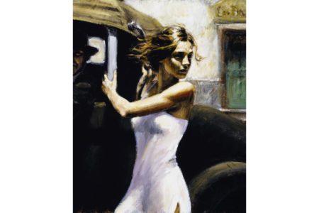 Luciena at Calles de San Telmo painting