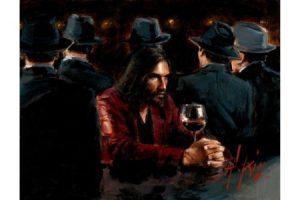 MAN AT THE BAR III painting