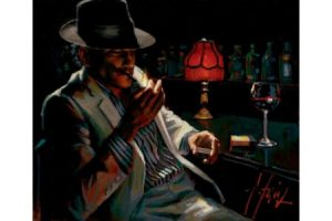 Man Lighting Cigarette V painting