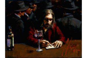 Man at the Bar IV painting