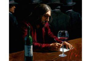 Man at the Bar VII painting