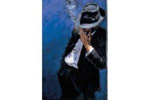 Man in Black Suit painting