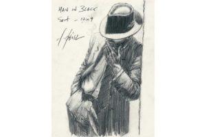 Man in Black Suit - Pencil sketch