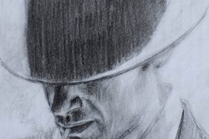 Man with hat - Pencil