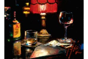 Noches de Malavida with Whiskey and Wine painting