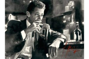 Proud to be a Man VII - Ink painting