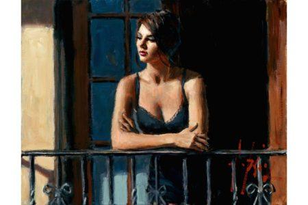Saba at the Balcony painting