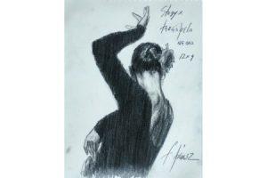 Study for Tericopela Negro - Pencil sketch