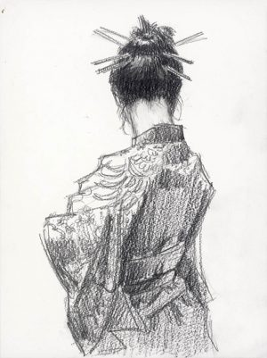Study for Geisha Pencil