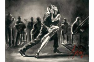 Tango - Ink painting