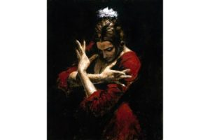 Terciopelo Rojo painting