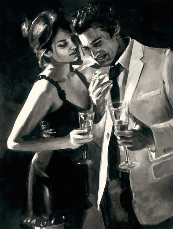 The Proposal IV with Champagne Flute - Ink