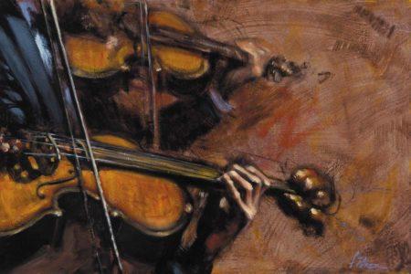 Violins painting