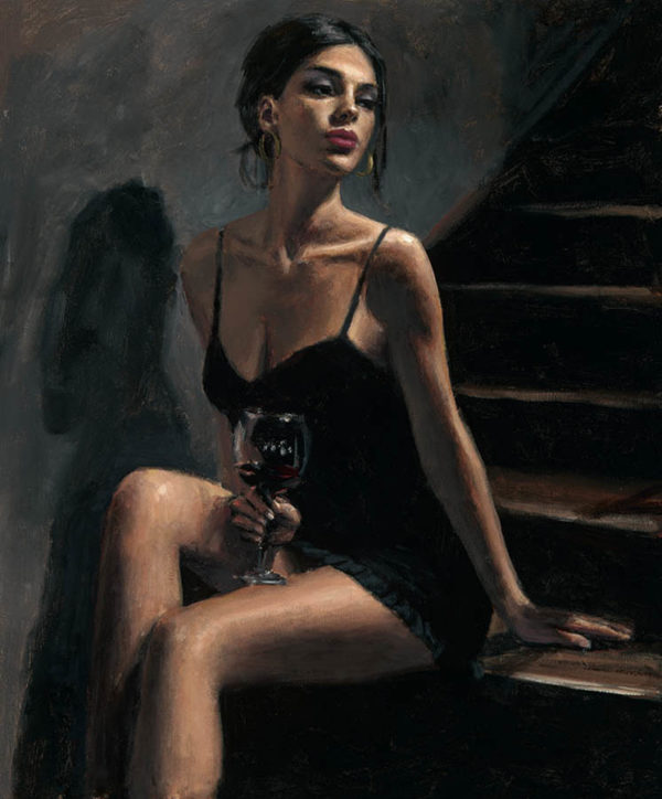Girl with Red at Stairs II