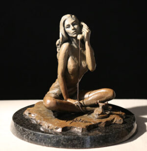 Black Phone II (sculpture in light brown finish)