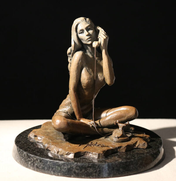 Black Phone II (sculpture in light brown finish)