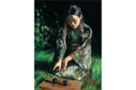 Geisha pouring Sake II