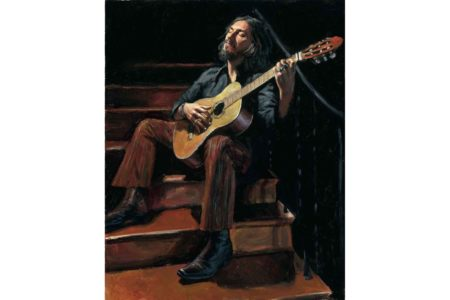 Self portrait with Guitar