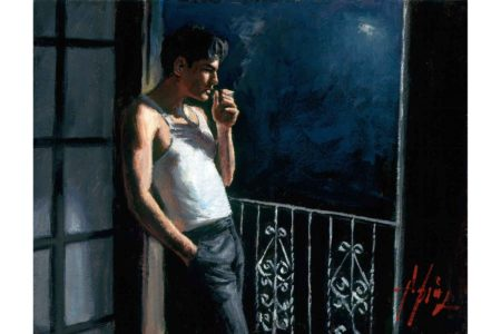 Cool Breeze and Cigarette II painting