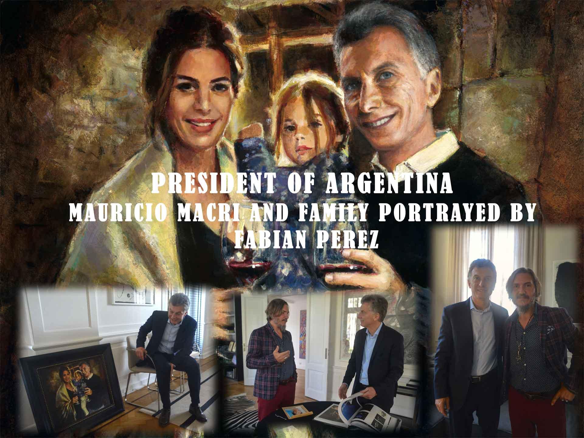 mauricio macri family portrait by fabian perez