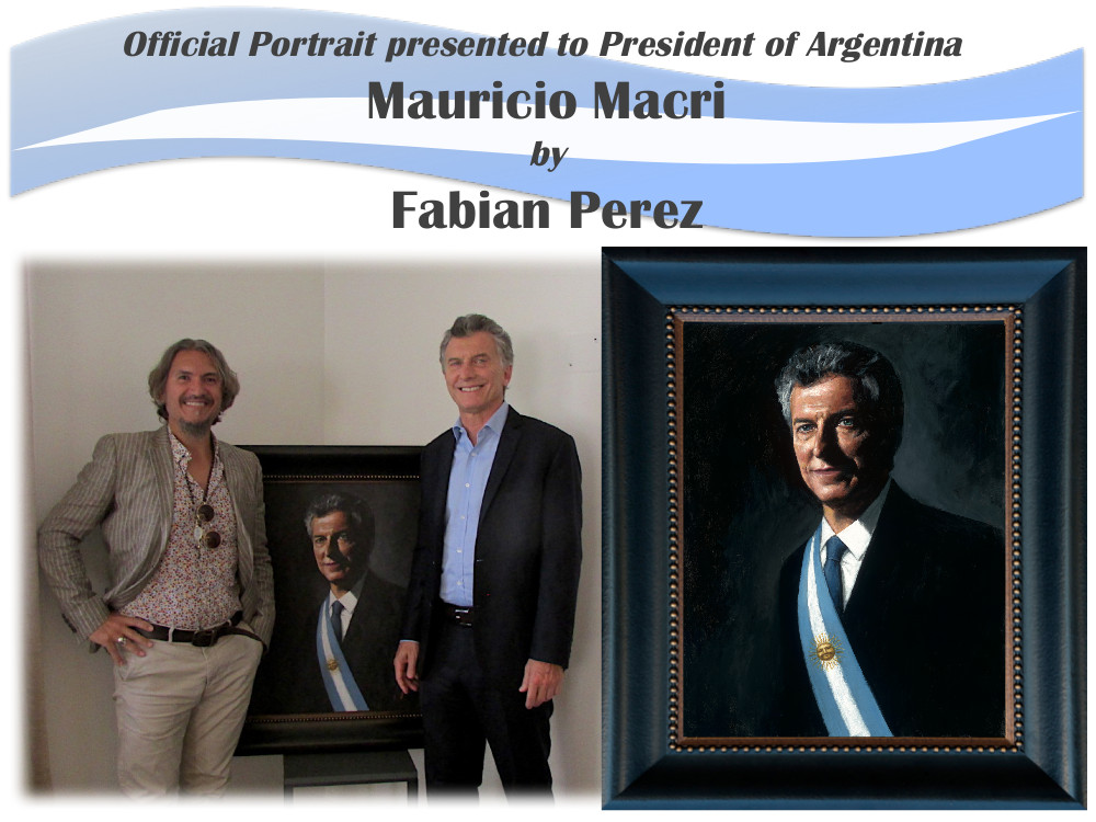 Mauricio Macri portrait by Fabian Perez