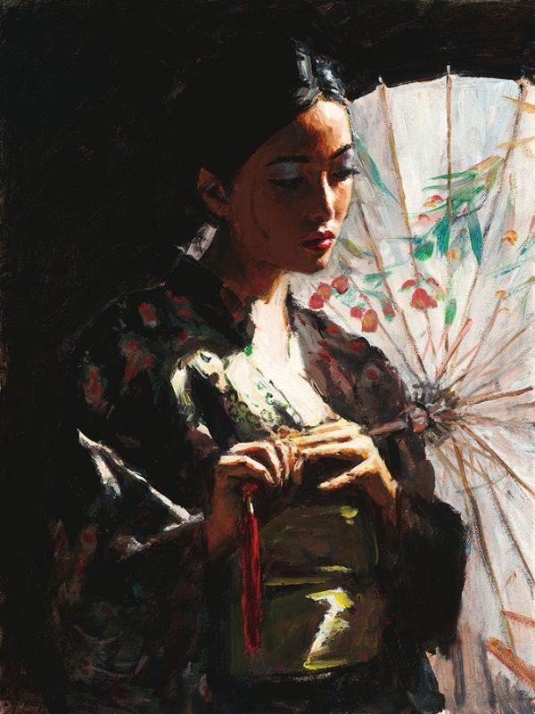 Michiko with White Umbrella Hair Up
