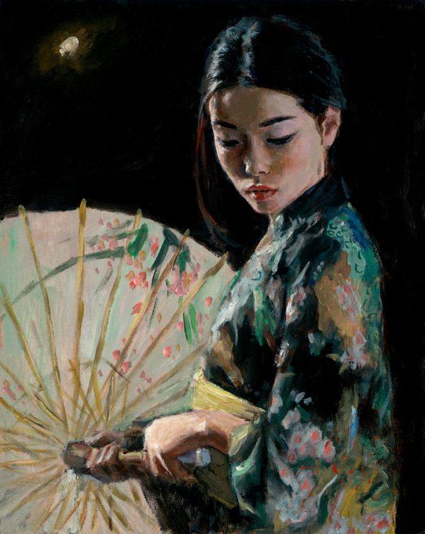 Michiko with White Umbrella