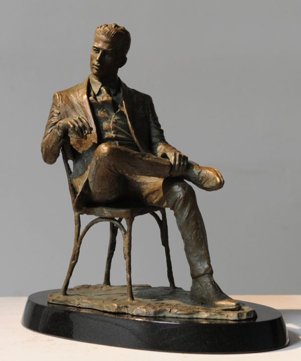 Man in a Chair sculpture
