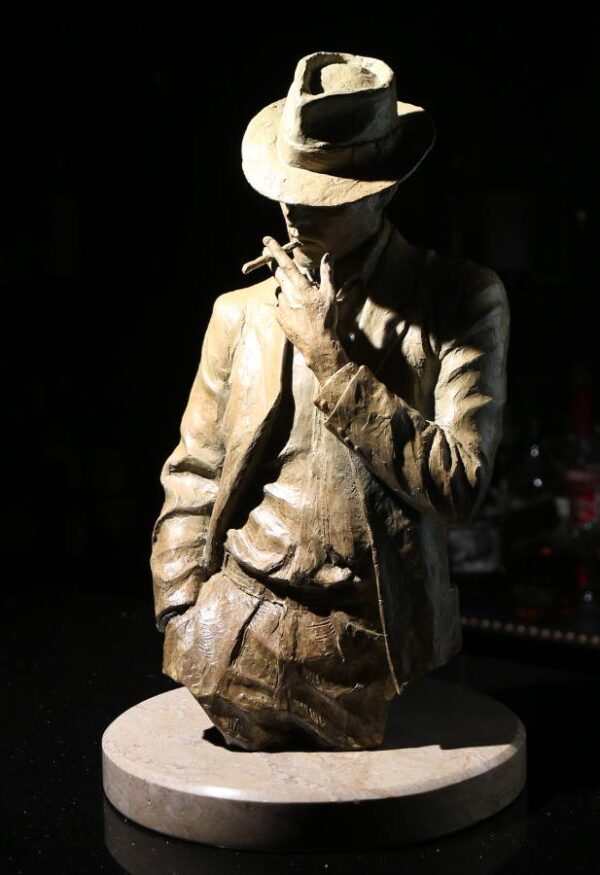Man Smoking (bust sculpture)
