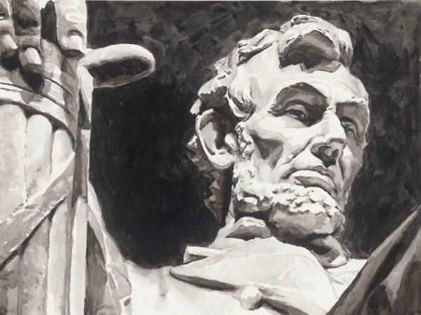 Abe Lincoln ink portrait
