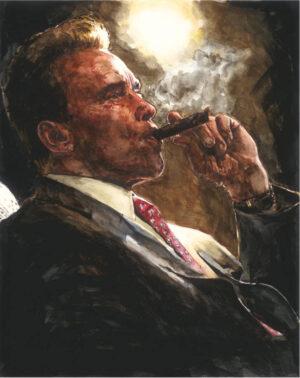Arnold Schwarzenegger watercolor portrait