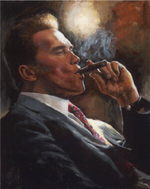 Arnold Schwarzenegger acrylic portrait