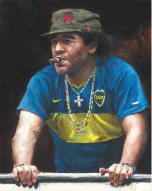 Diego Maradona acrylic portrait