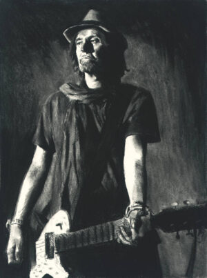 Phil Campbell charcoal II portrait