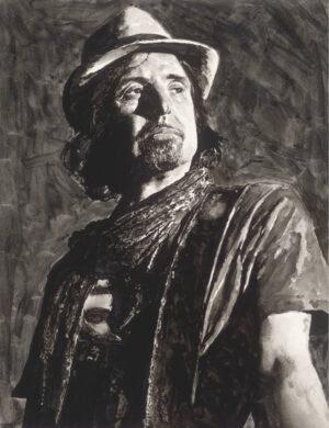 Phil Campbell ink portrait