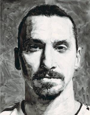 Zlatan Ibrahimović ink portrait